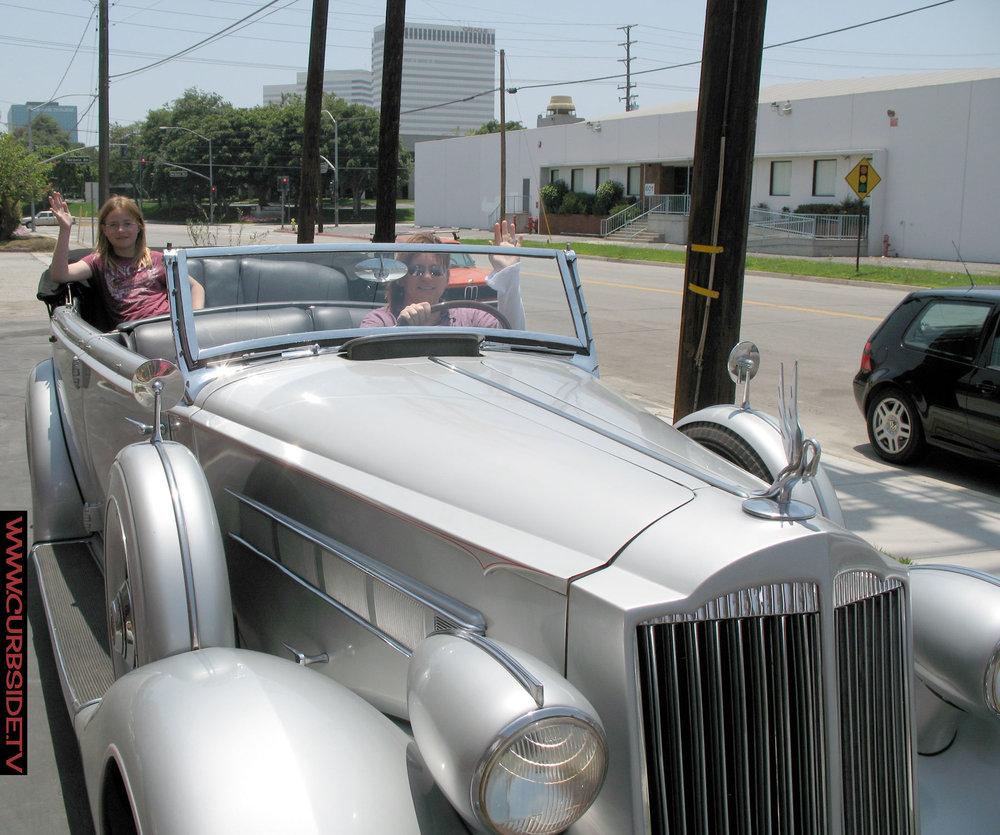 Enjoying a ride in Joseph Stalin's beautiful Packard.