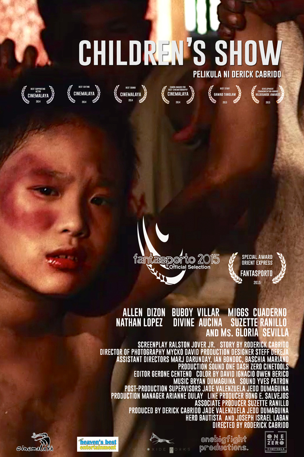 Children's Show  - 85 mins - Drama, Phillippines  Directed by Roderick Cabrido  NORTH AMERICAN PREMIERE  Synopsis:  Based on a true story of Children being used by a syndicate for an underground fighting match.    Facebook    Twitter