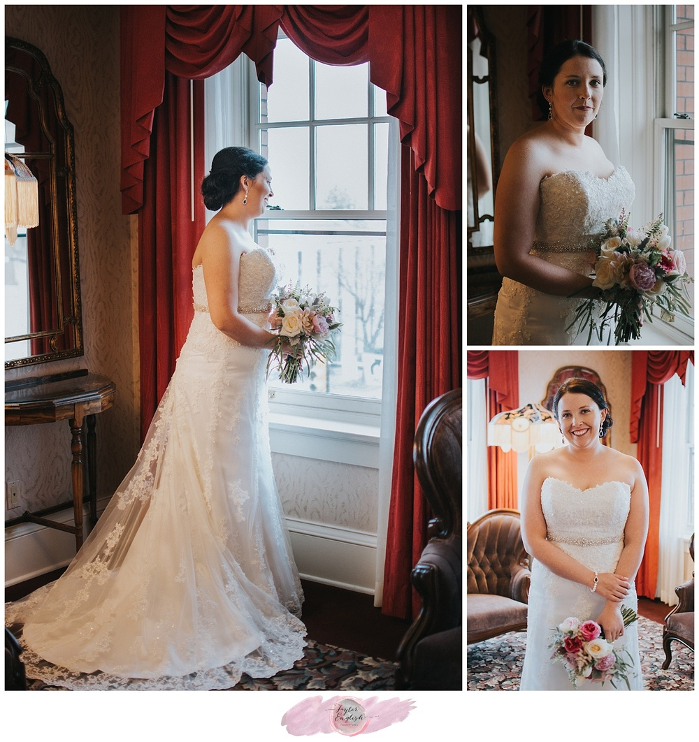 Such an elegant room for beautiful bridal portraits