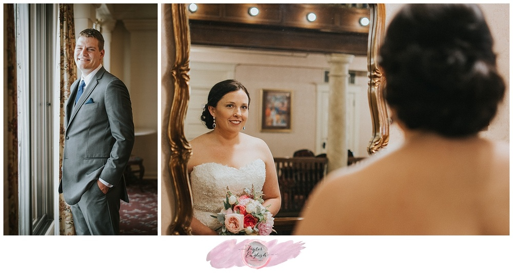 The fleeting moment before the bride and groom see each other for the first time - I love these moments!