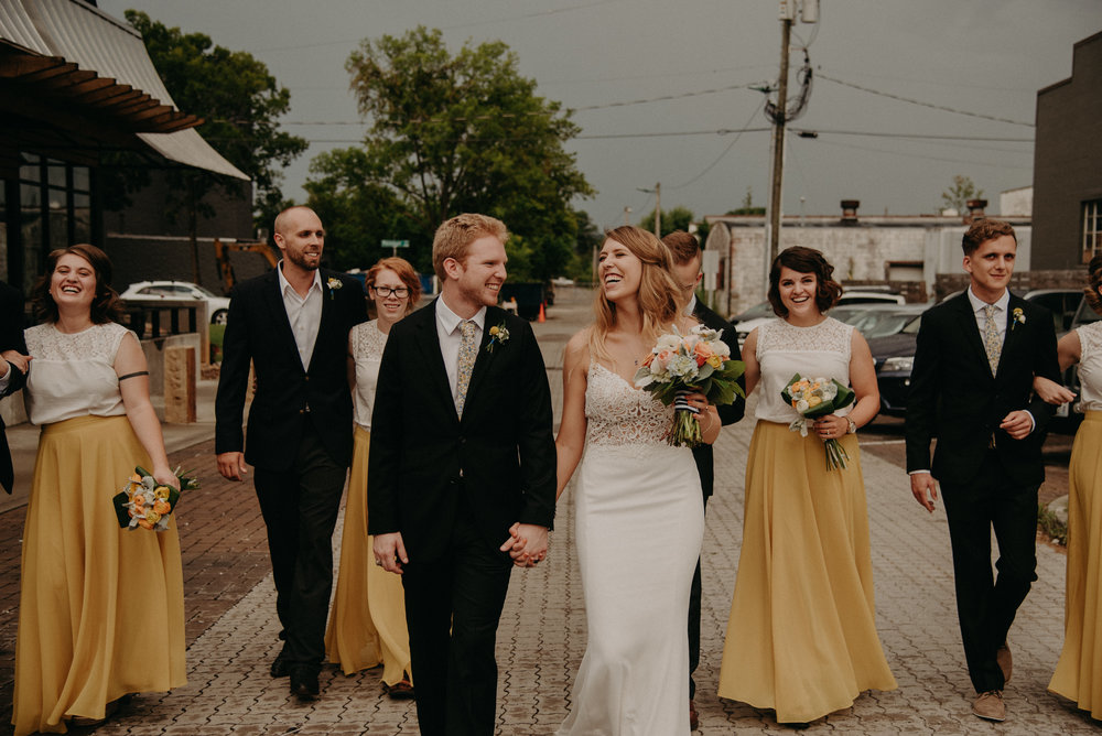 Yellow Navy and Floral Wedding Colors