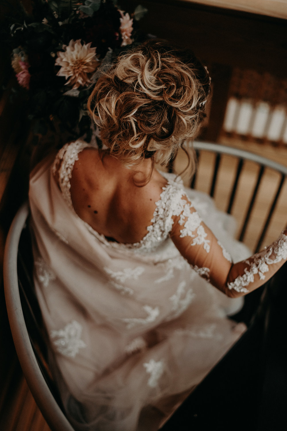 Bridal Details and Wedding Gown at Parkside Resort in Smoky Mountains