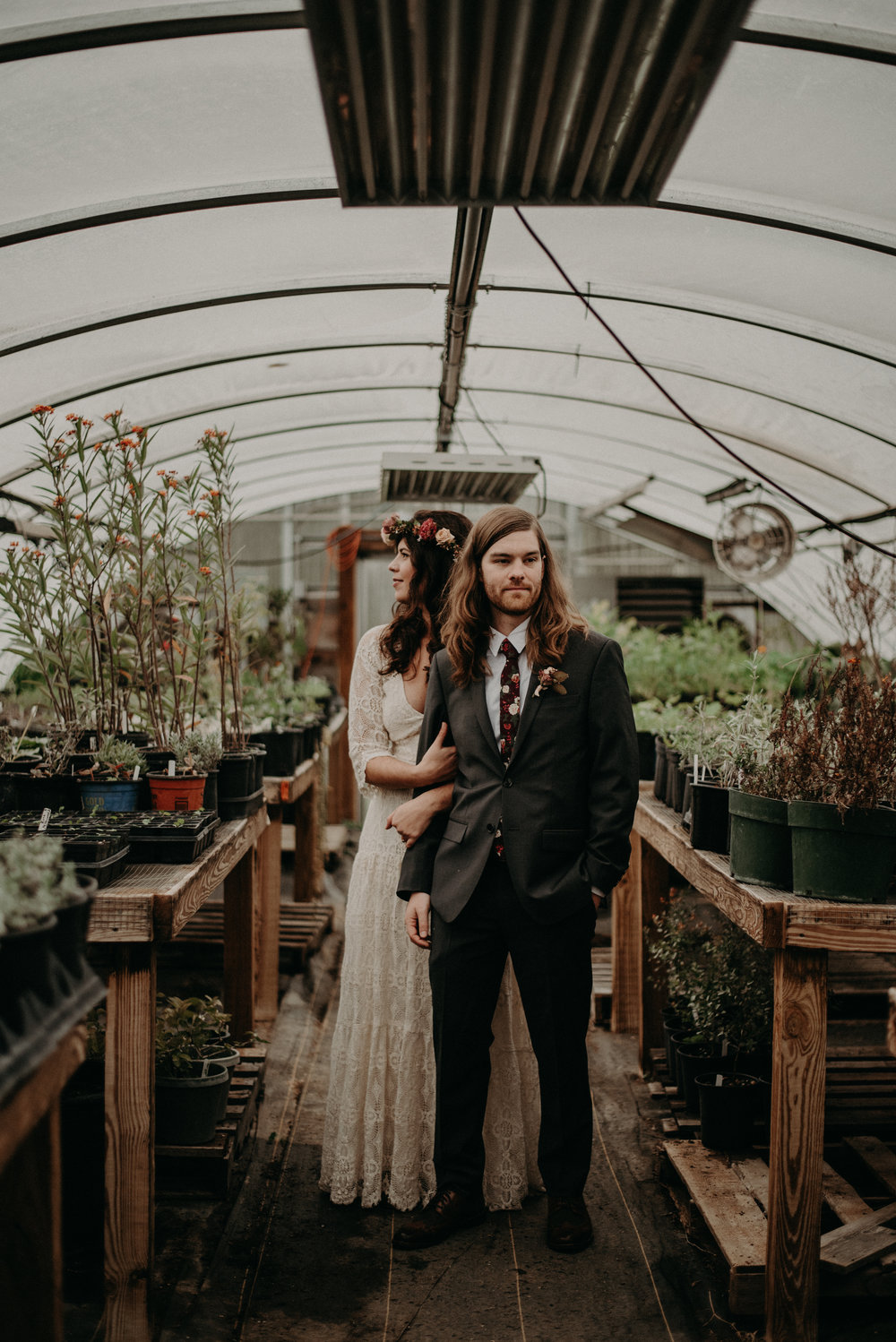 Greenhouse Wedding at Crabtree Farms in Chattanooga Tennessee