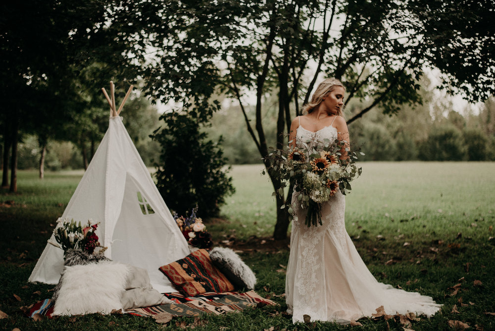 Bohemian and Teepee Inspired Wedding Styled Shoot