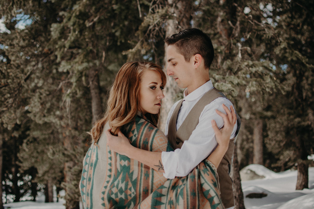 Snowy Adventure Elopement in Winter Park Colorado