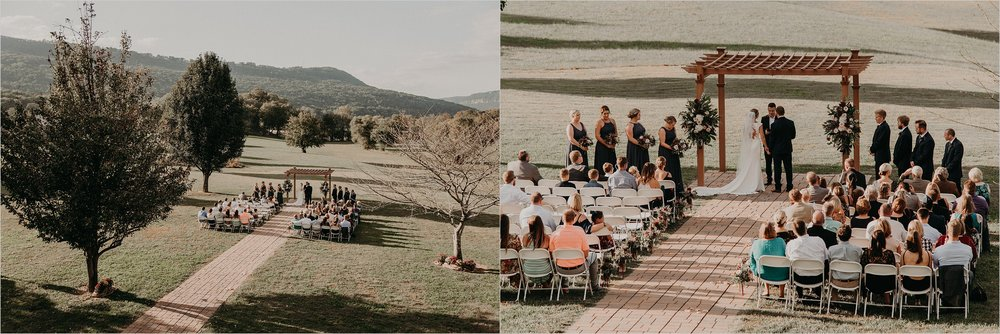 Tennessee Riverplace outdoor ceremony nestled among Tennessee mountains in Chattanooga