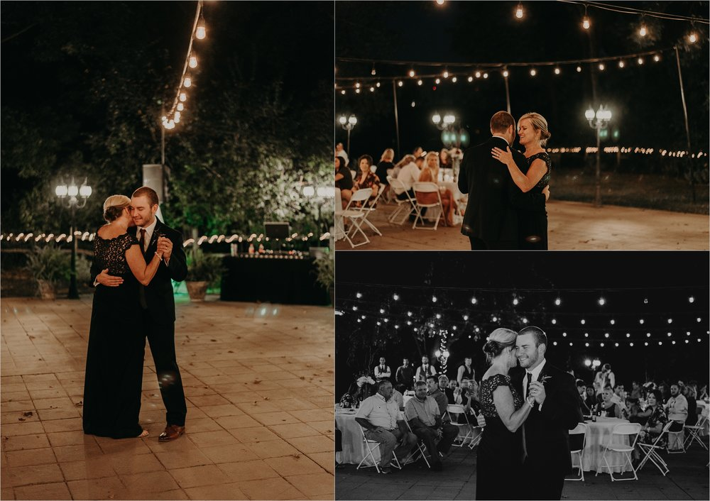 Mother and son share first dance together