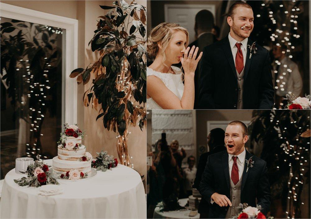 Bride and groom cake smash