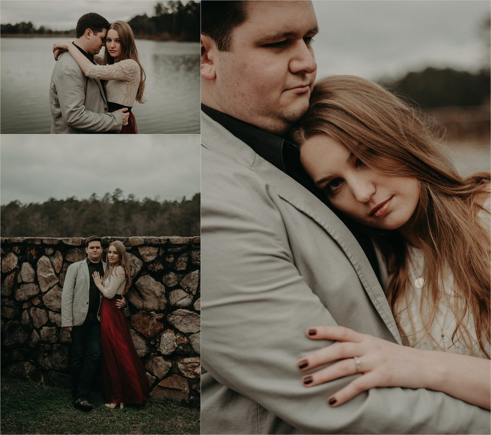 Scotland inspired engagement session on an overcast day in Birmingham, Alabama
