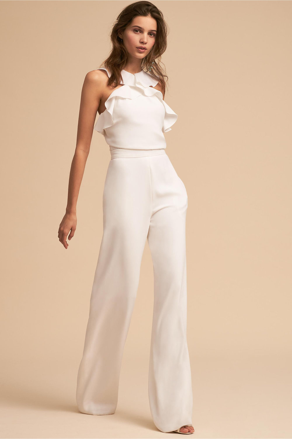 BHLDN Fremont Jumpsuit for a more updated bridesmaid version of ruffles and frills