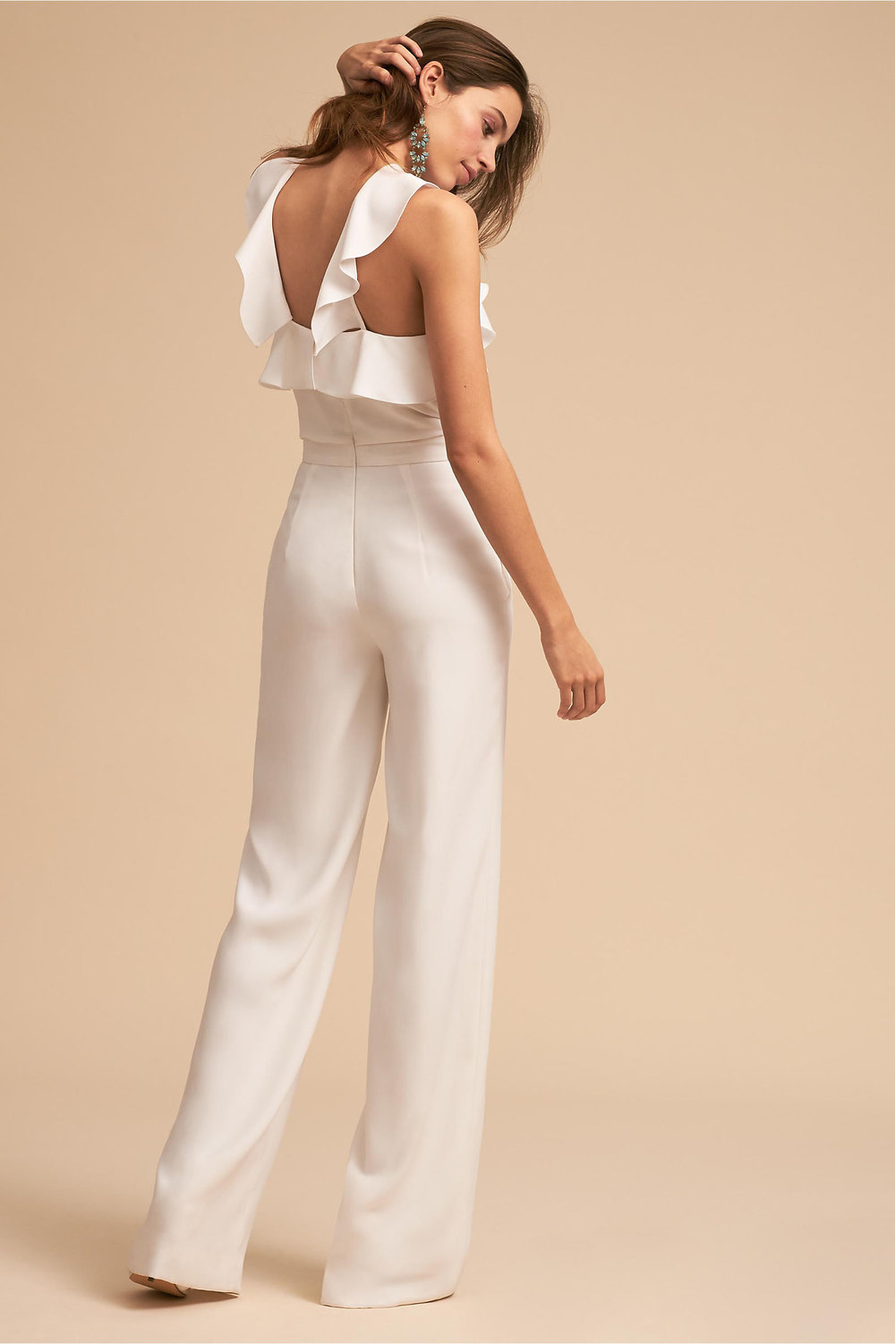 Modern twist on ruffles with a BHLDN Fremont jumpsuit