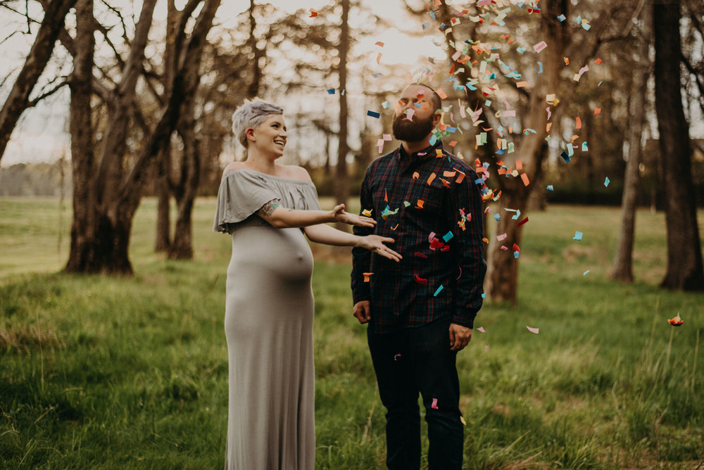 Maternity session celebration of their Rainbow Baby in Chattanooga, Tennessee