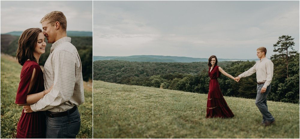 Engagement session at the Raccoon Mountain Reservoir in Chattanooga, TN