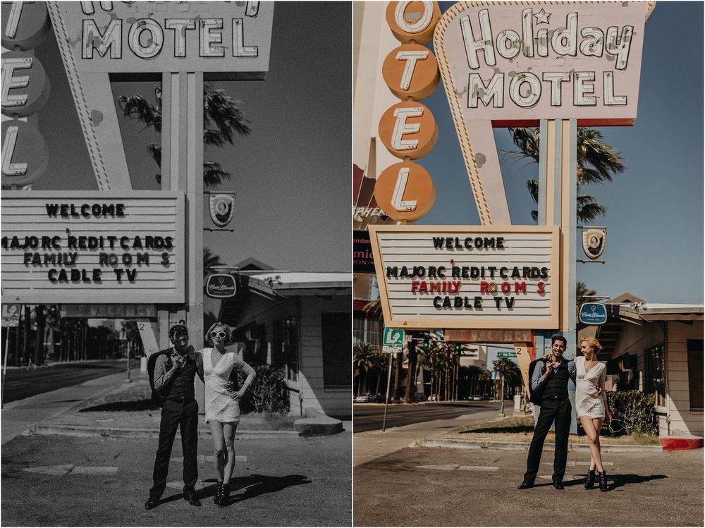 Las Vegas Boulevard styled elopement