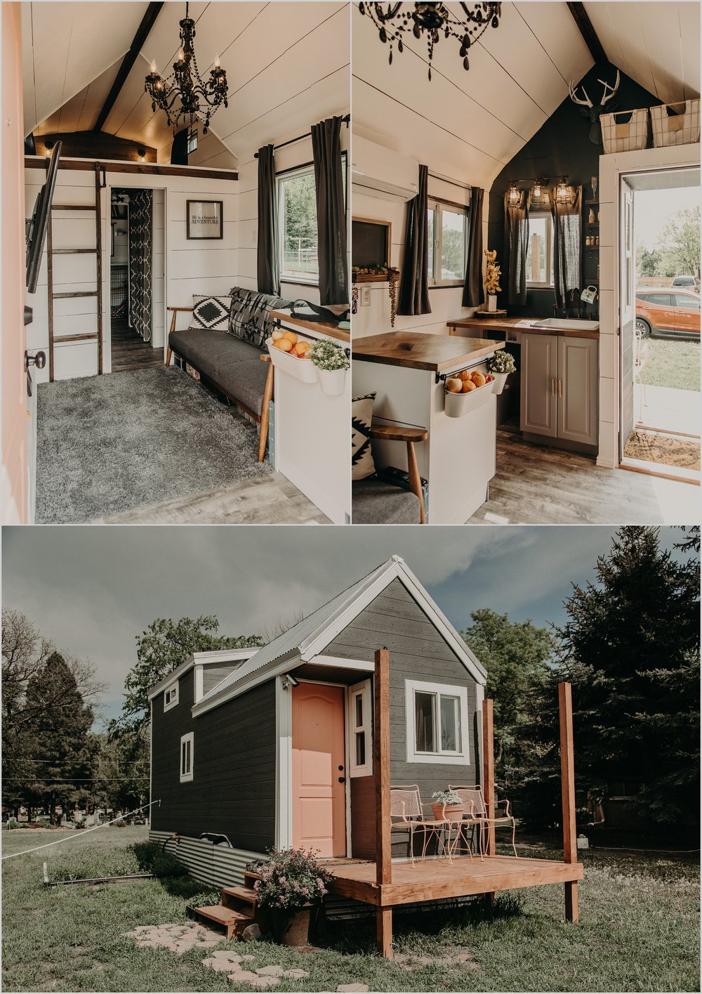 Ashley and Kurtis built their own tiny home entirely on their own. Totally Pinspo and swoon worthy!