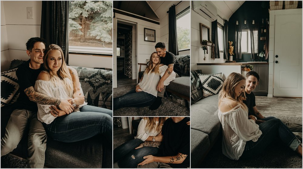 A cozy tiny home photo session in Longmont, Colorado