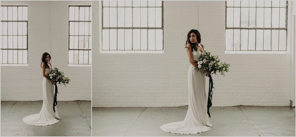 Industrial loft wedding with a minimalist theme