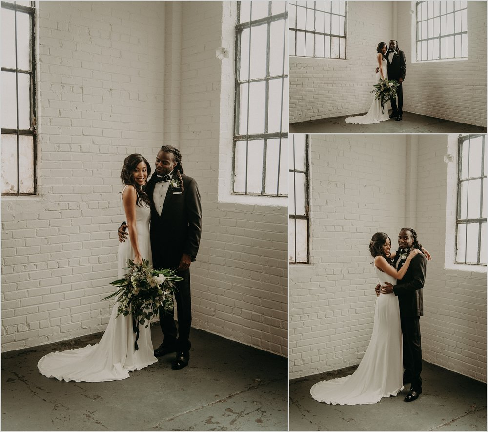 Industrial loft wedding at The Brickyard Marietta
