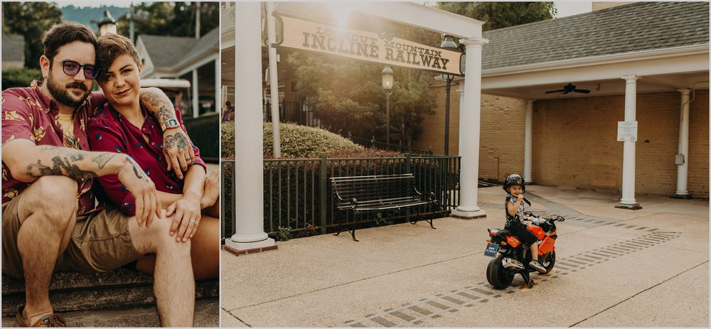 Urban summer family photo session in historic St. Elmo, a neighborhood of Chattanooga, Tennessee