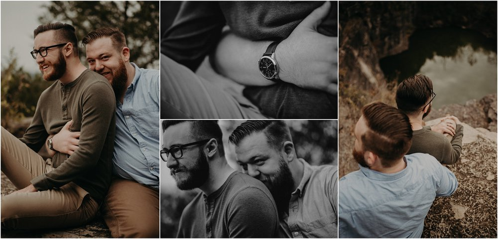 LGBTQIA Engagement session in Hixson, Tennessee at Greenway Farms