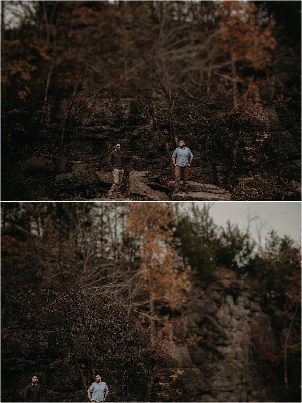 Adventurous gay engagement session in Tennessee