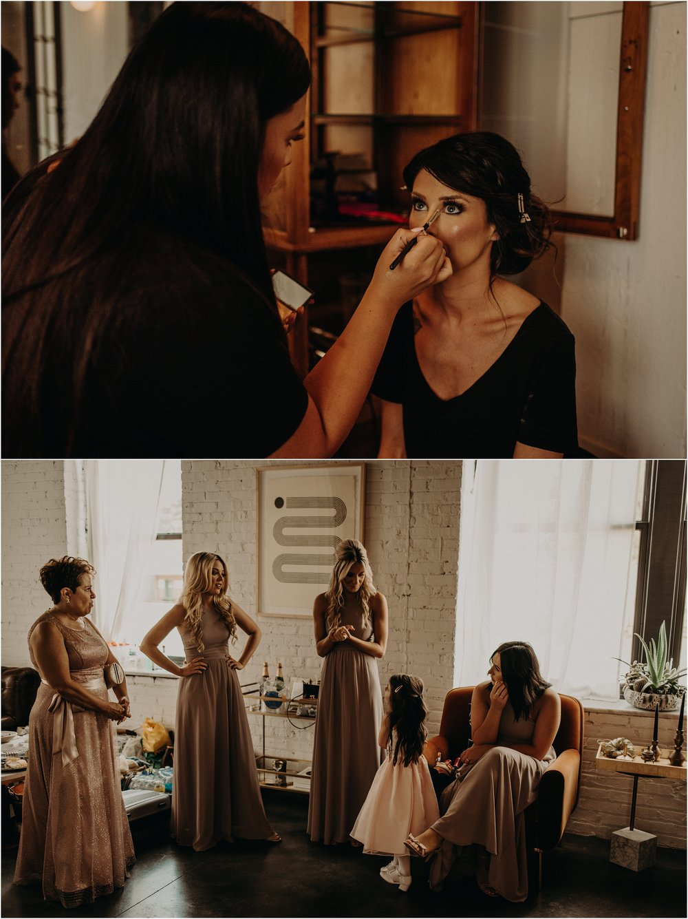 Bridal party prepares for the wedding