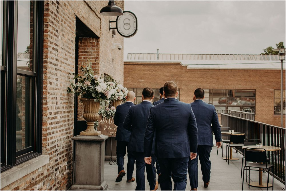 The groom and groomsmen arrive to Co 251