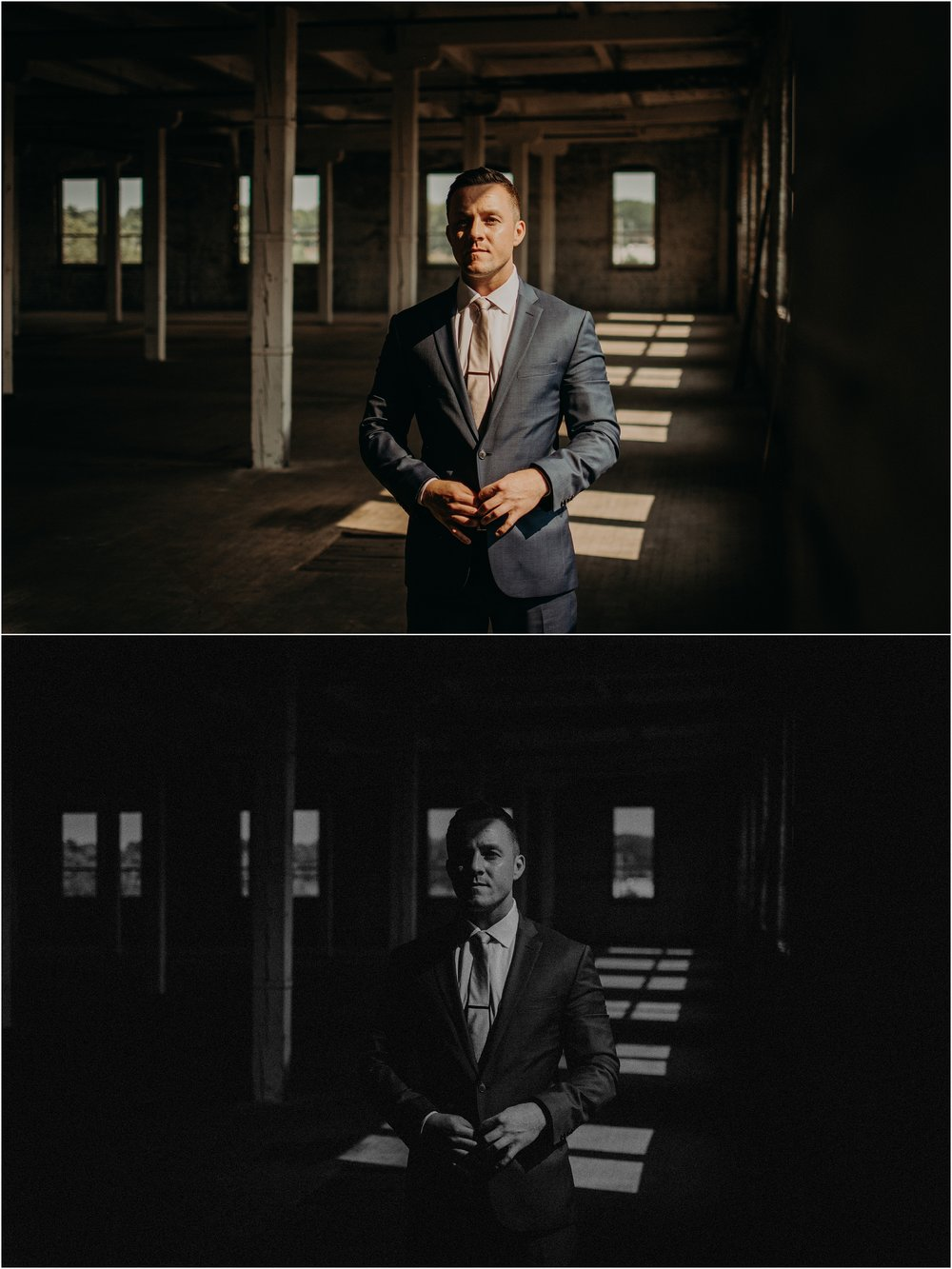 Groom portraits on his wedding day
