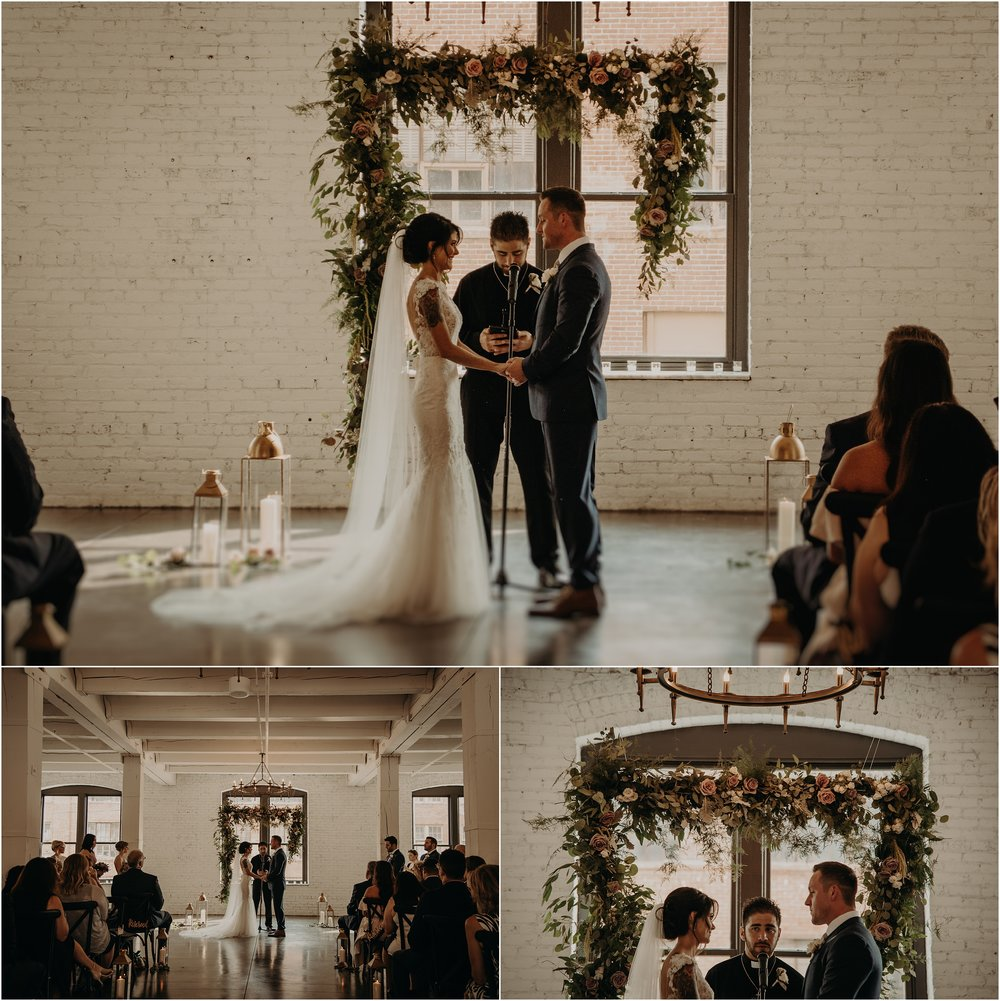Industrial chic ceremony space at Company 251