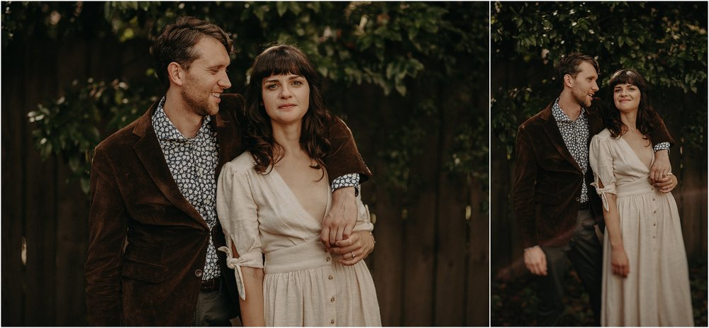 Ultra cool and hip bride and groom portraits