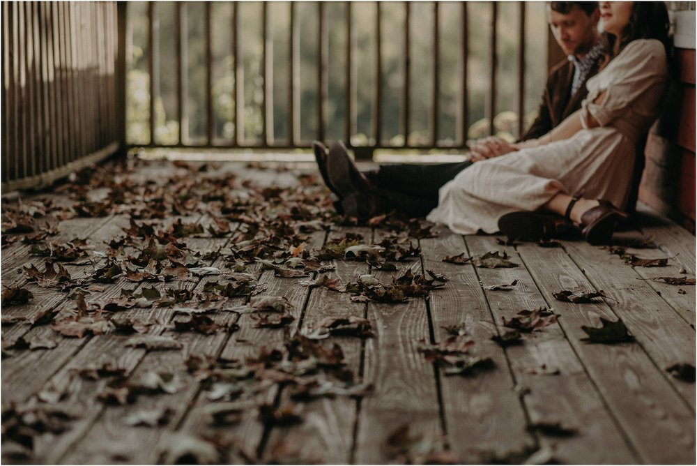 Fall elopement on the porch of this Nashville, TN cottage