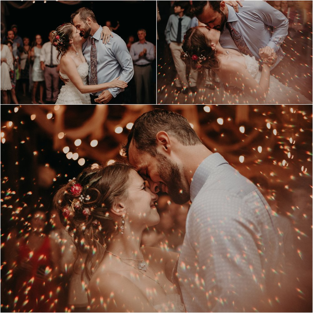 Sparks fly during the first dance of the bride and groom