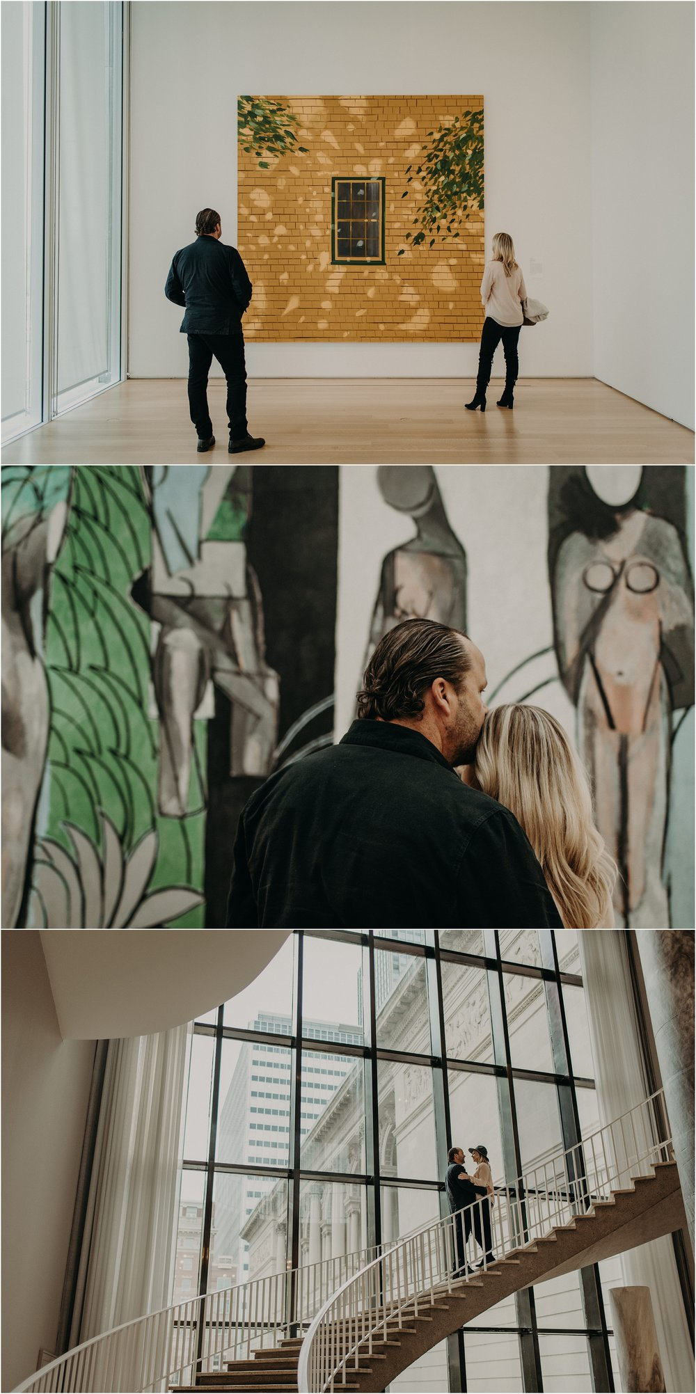 An intimate Chicago Museum of Art couple's photo session