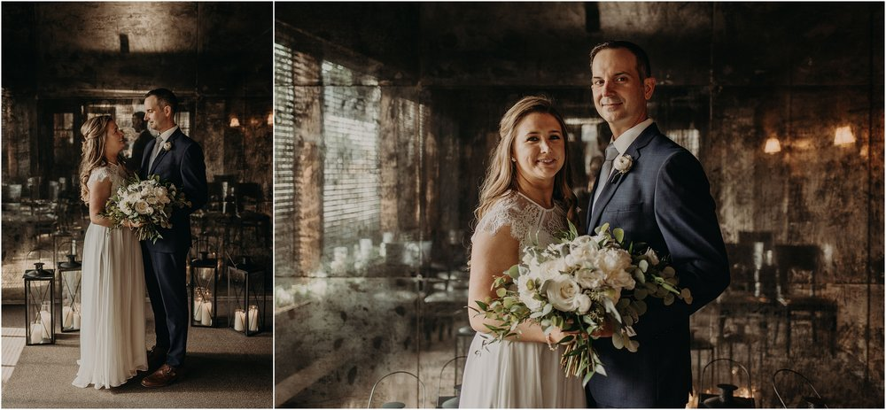 Bride and groom on the day of their elopement