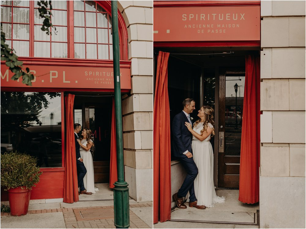 England-inspired urban bride and groom portraits in Tennessee