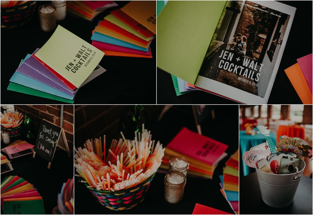 Cocktail recipe book as wedding favors for their guests