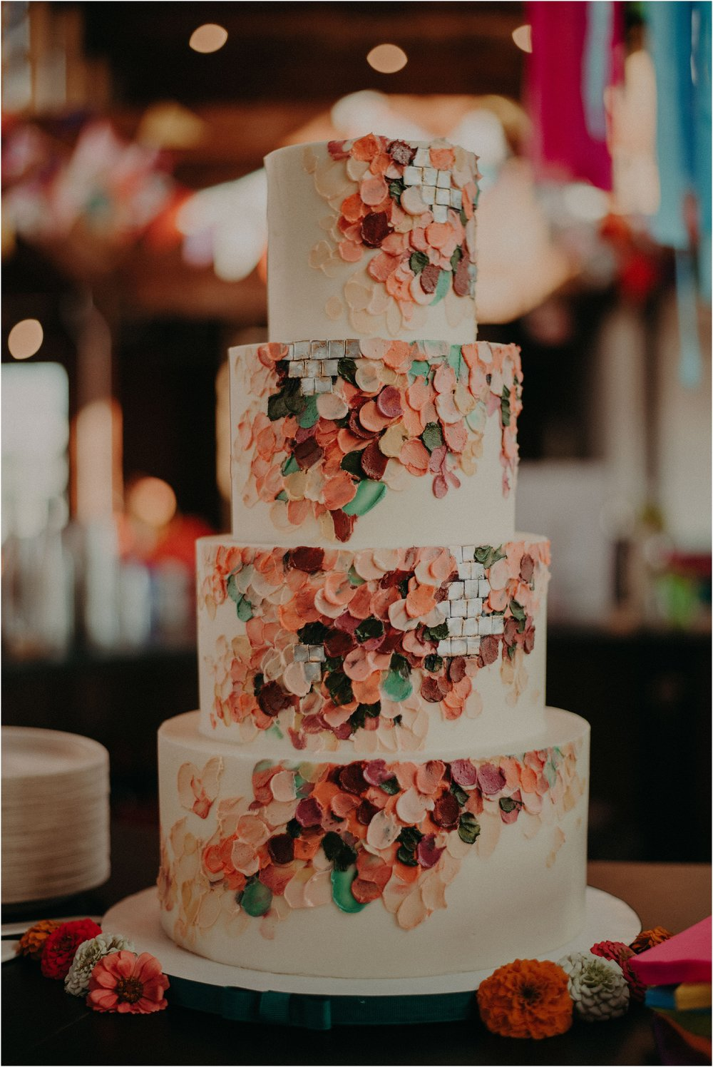 Art deco inspired wedding cake design by Yellow Cake Company in Chattanooga, TN