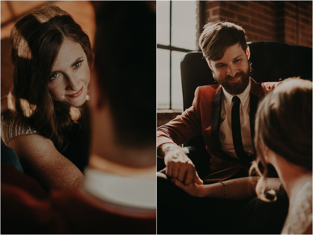 The look this bride and groom give each other