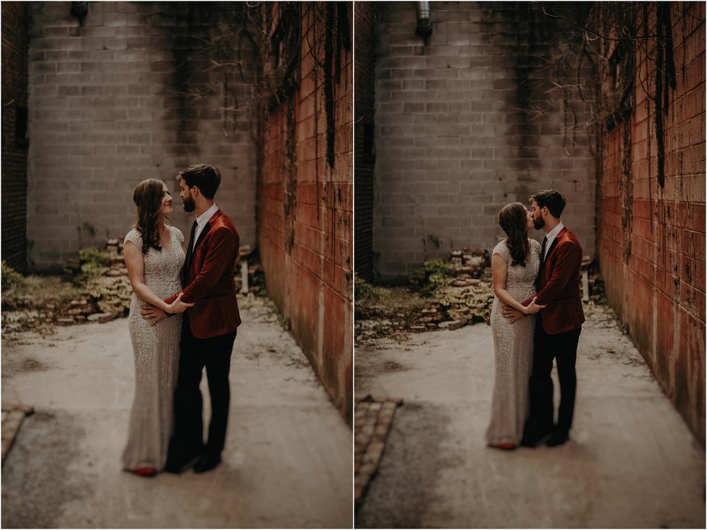 Back alley portraits behind The Turnbull Building in Chattanooga, Tennessee