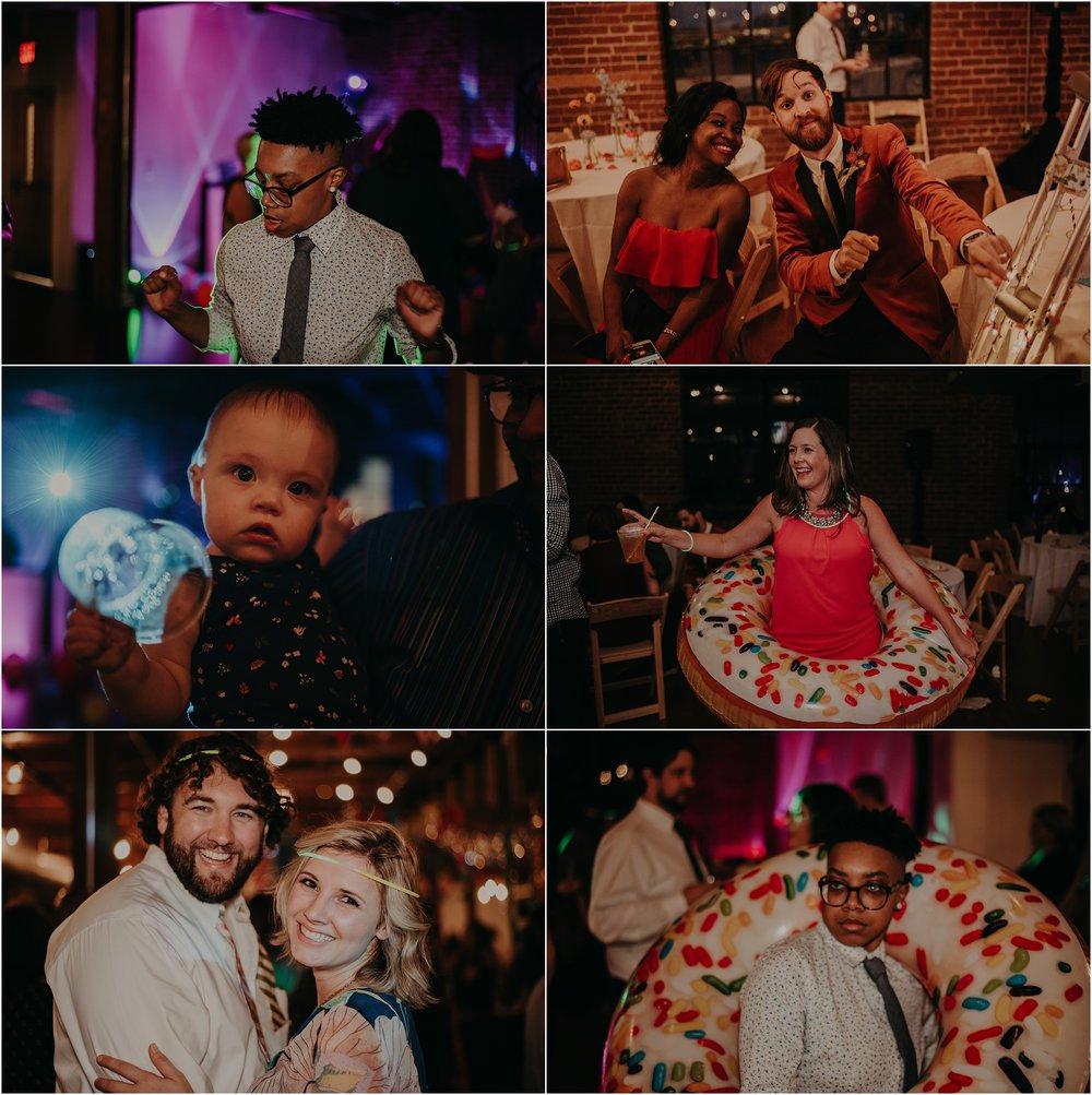 Music-festival inspired wedding reception gets wild