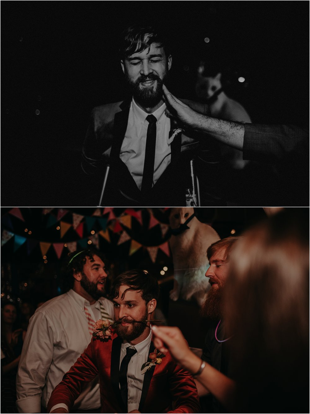 The groom and his best buds having too much fun