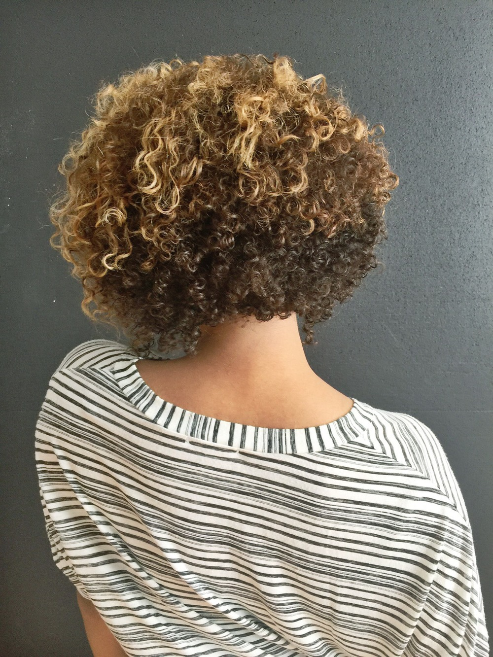 Image of hair after using the Devacurl SuperCream Coconut Curl Styler from the Curl Connoisseur Blog