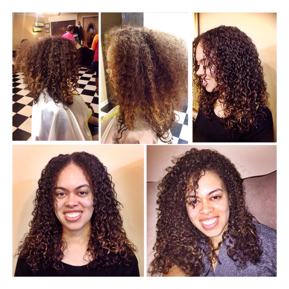 Curly hair styling by the Curl Connoisseur