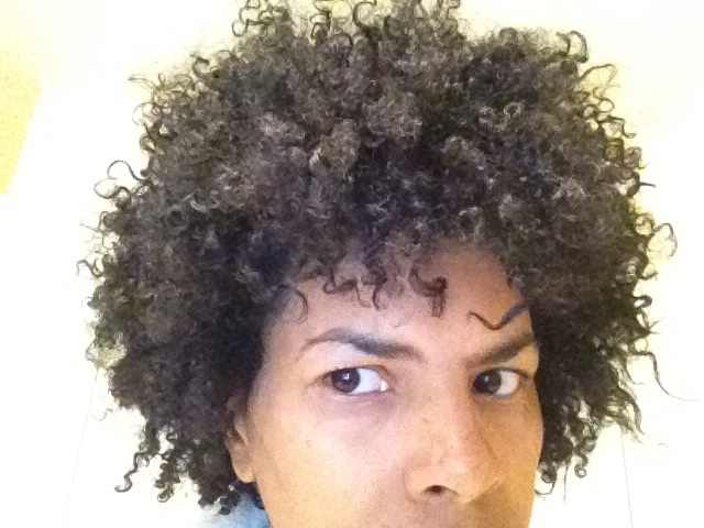 April 16,2013 the day after my big chop. My first wash and go. I was a little scared. Ok let's be honest I was TERRIFIED! I did not like what I saw in the mirror.