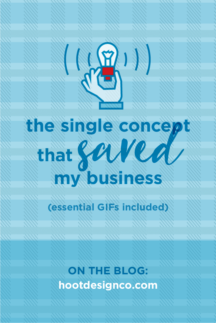 The single concept that saved my business | Creative Hoot Design Co