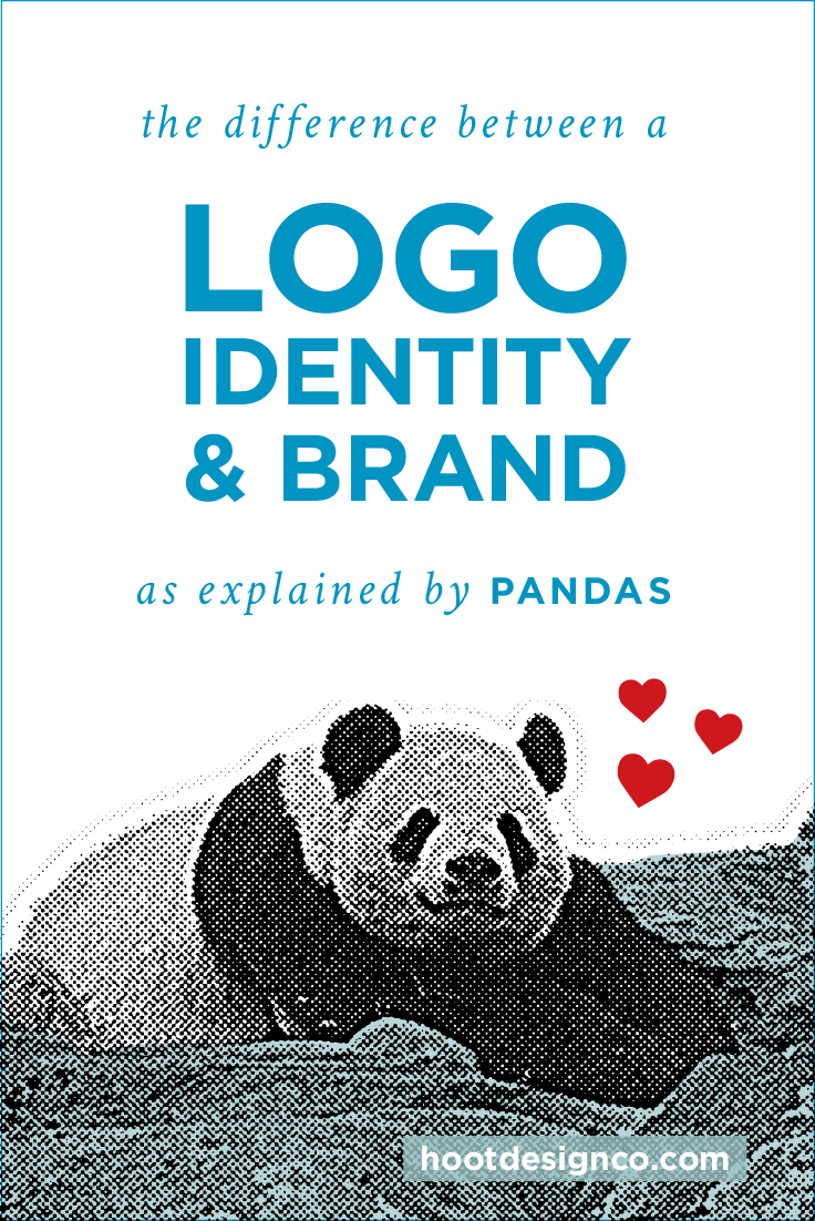 Logo, identity, brand – differences between each, as explained by PANDAS!