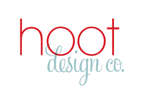 Hoot Design Co.'s primary logo. A logo is a consistent, recognizable representation of your company.