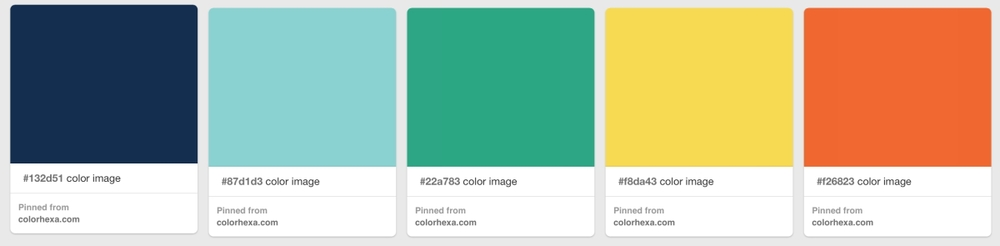 The Gistory color palette on Pinterest