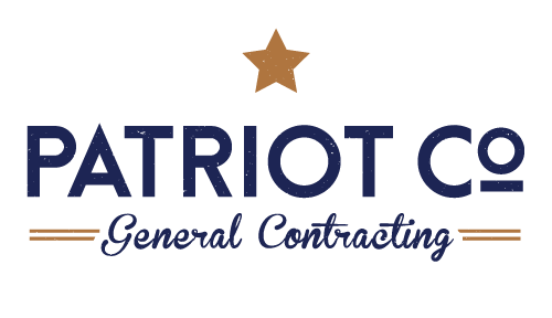 The final Patriot Co. General Contracting logo!