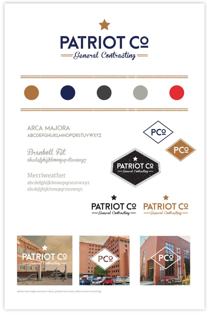 Patriot Co.'s Final Brand Board